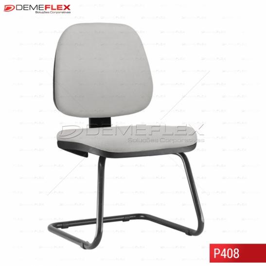 Cadeira Fixa Estrutura Preta Operacional Job Curitiba Demeflex