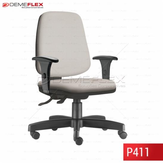 Cadeira Giratória Base Reta Preta Operacional Alta Job Curitiba Demeflex
