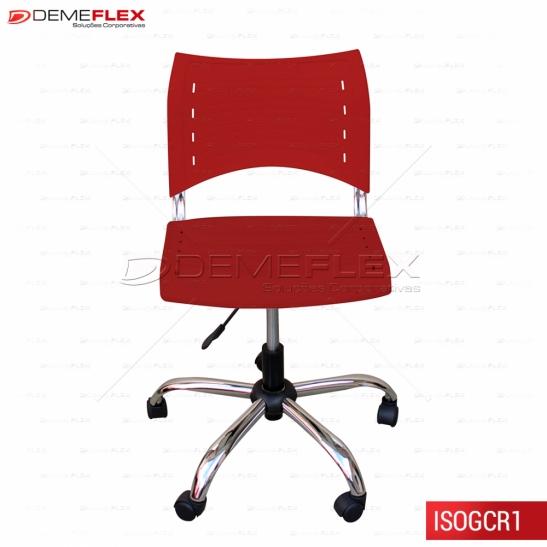 Cadeira ISO Polipropileno Giratória Cromada Curitiba Demeflex