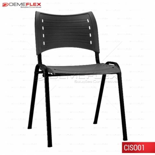 Cadeira ISO Empilhavel Multiuso Polipropileno Preto Curitiba Demeflex