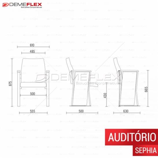 Auditório Sephia com Prancheta