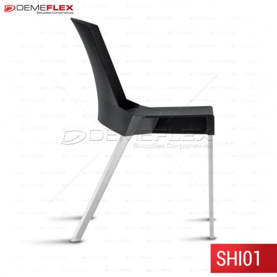 Cadeira Fixa Shine de Polipropileno Empilhável Curitiba Demeflex
