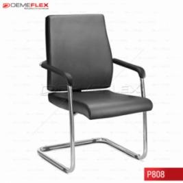 Cadeira Diretor Fixa Interlocultor Estrutura Cromada Sephia Curitiba Demeflex