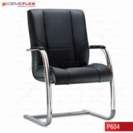 Cadeira Fixa Estrutura Cromada Diretor Onix 2 Curitiba Demeflex