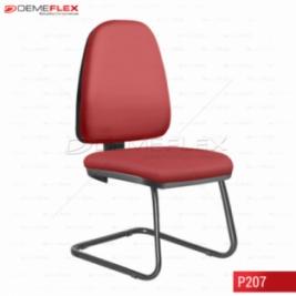 Cadeira Fixa Estrutura Preta Operacional Alta Sky Curitiba Demeflex