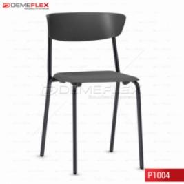 Cadeira Fixa Estrutura Preta Polipropileno Preto Bit Curitiba Demeflex