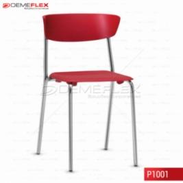 Cadeira Fixa Estrutura Cromada Polipropileno Colorido Bit Curitiba Demeflex