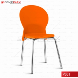 Cadeira Fixa Estrutura Cromada Polipropileno Colorido Luna Curitiba Demeflex
