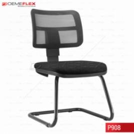 Cadeira Fixa Estrutura Preta Diretor Zip Curitiba Demeflex