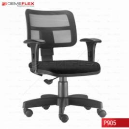 Cadeira Giratória Base Reta Preta Executiva Ergonomica Zip Curitiba Demeflex