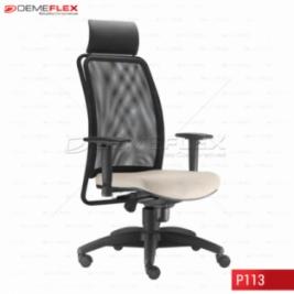 Cadeira Giratória Base Preta Presidente Soul Curitiba Demeflex