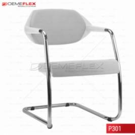 Cadeira Fixa Estrutura Cromada Encosto Estofado Flex Curitiba Demeflex
