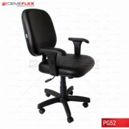 Poltrona Cadeira Giratória com Braços Reguláveis Curitiba Demeflex