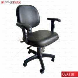 Cadeira Giratória Executiva Digitador Ergonômica Nr17 com BackSystem e Braços Curitiba Demeflex