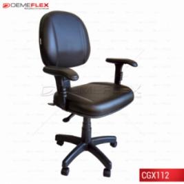 Cadeira Giratória Gomada Ergonômica Nr17 Com Braço Curitiba Demeflex