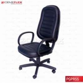 Cadeira Giratória Escritório Poltrona Presidente com Costura Curitiba Demeflex