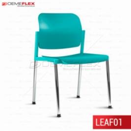 Cadeira Fixa Leaf Colorida com Estrutura Cromada Curitiba Demeflex