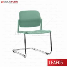 Cadeira Fixa Leaf Colorida com Estrutura Contínua Cromada Curitiba Demeflex