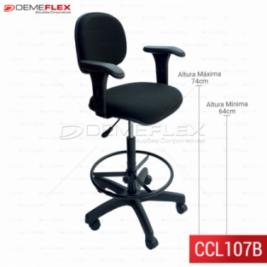 Cadeira Caixa L Fixo Com Braço Curitiba Demeflex