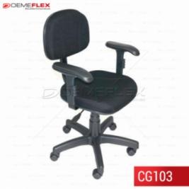 Cadeira Giratória Econômica Escritório Recepção com Braço Curitiba Demeflex