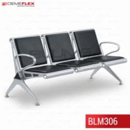 Cadeira Longarina 3 Lugares Blume Office BLM306 Curitiba Demeflex