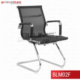 Cadeira Fixa Cromada de Aproximação Blume Office BLM02F Curitiba Demeflex
