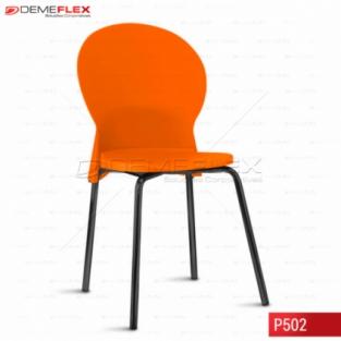Cadeira Fixa Estrutura Preta Polipropileno Colorido Luna Curitiba Demeflex