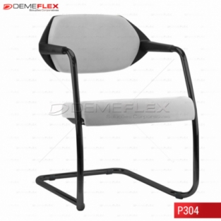 Cadeira Fixa Estrutura Preta Encosto Preto Estofado Flex Curitiba Demeflex